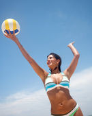 Volley girl — Stock Photo