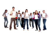 Casual group - sign — Stock Photo