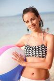 Plaj kız portre — Stok fotoğraf