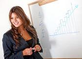 Business woman presentation — Stock Photo