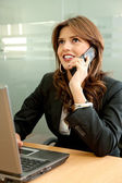 Business woman on the phone — Foto de Stock