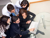 Business team on the computer — Stock Photo