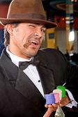 Hombre de casino — Foto de Stock