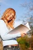 Woman outdoors — Stock Photo
