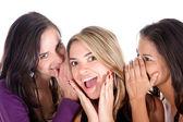 Gossip girls — Stockfoto
