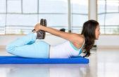 Gym stretches — Stock Photo