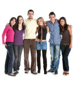Fullbody group of friends — Stock Photo