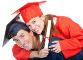 Couple of graduates — Stock Photo