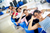 Gym group of — Stock Photo