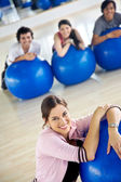 Gym smiling — Stock Photo
