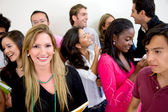 Gruppo multi-etnico di studenti — Foto Stock