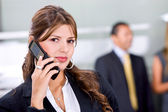 Business woman on the phone — Photo