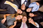 Multi-ethnic business group — Stock Photo