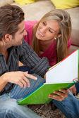Studenti a casa — Foto Stock