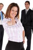 деловая женщина - большие пальцы руки вверх — Стоковое фото