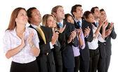 Applaudire il gruppo aziendale — Foto Stock