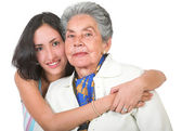 Grandmother and her grandchild — Stock Photo