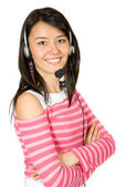 Beautiful customer services girl — Stock Photo