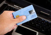 Credit card online payments — Stock Photo