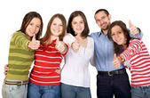 Happy friends - thumbs up — Stock Photo