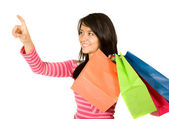 Beautiful teenager with shopping bags — 图库照片