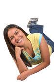 Beautiful casual latin american girl — Stock Photo