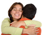 Couple in love hugging — Stock Photo