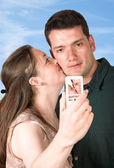 Photo of a couple kissing — Stock Photo