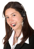 Business operator - smiling — Stock Photo