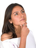 Casual pensive girl — Stock Photo
