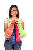 美しい 10 代の買い物袋 — ストック写真