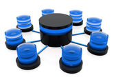 3d database structure — Stock Photo