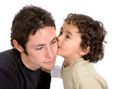 Brothers affection — Stock Photo
