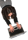 Business woman working on laptop — Stock Photo