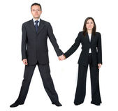 Business partners holding hands — Stock Photo