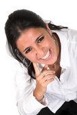 Zakenvrouw - grote glimlach — Stockfoto