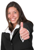 Business woman - thumbs up — Stock Photo