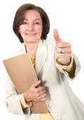 Business success - thumbs up — Stock Photo