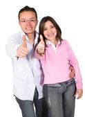Paar mit einer positiven einstellung — Stockfoto