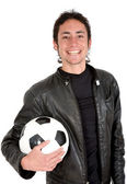 Casual footballer — Stock Photo