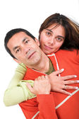 Happy casual couple — Stock Photo