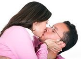 Casual couple kissing — Stock Photo