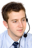 Business customer service guy — Stock Photo