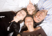 Family without worries - sleeping — Stock Photo