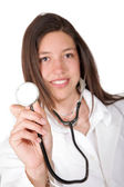Friendly female doctor — Stock Photo
