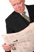 Obchodní manažer čtení noviny — Stock fotografie