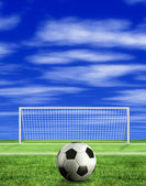 Football - penalty kick — Stock Photo