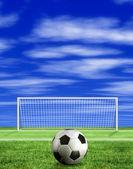 Football - penalty kick — Stock Photo