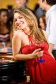 Casino woman — Stockfoto