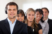 Customer services representative team — Stock Photo